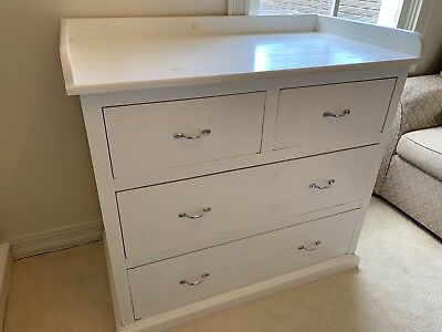 Baby Change Table Like Boori Country White Chest Of Drawers Solid Wood