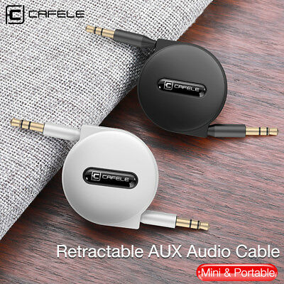 Retractable AUX Cable 3.5mm Stereo Audio Input Male Extension Auxiliary Car Cord