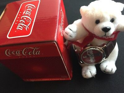 COCA-COLA Watch- NEW With Box & Bear