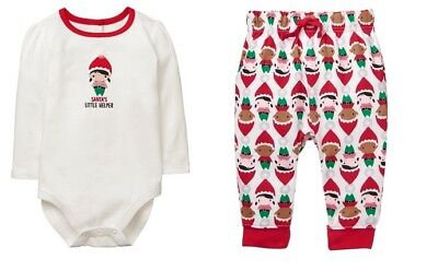 Gymboree Sleeper Baby Girl Boy Elf Pals Christmas Size 0-3 months NWT