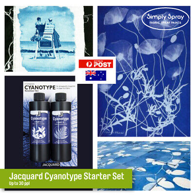 Jacquard CYANOTYPE SET- Photographic art prints with sunlight - Free Shipping