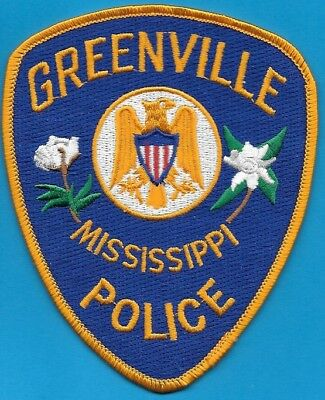 Greenville Mississippi Mi Ms Police Dept Gpd Pd Eagle Cotton (Fire) Arrow State