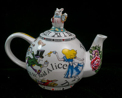 Cardew Alice In Wonderland Teapot With Rabbit Top Also With Box.