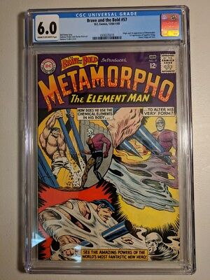 Cgc 6.0 Brave & The Bold #57 Dc Comics 1965 Origin 1St Appearance Of Metamorpho