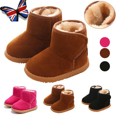 Kids Boys Girls Winter Warm Snow Boots Chelsea Infant Baby Toddler Martin Shoes