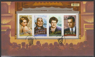 Canada #2279 52¢ Canadians In Hollywood Souvenir Sheet First Day Cover