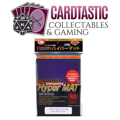 KMC Hyper Mat Purple Standard 80ct Card Sleeves