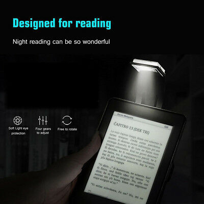 UK LED Reading Book Light Clip USB Rechargeable Lamp For Kindle/eBook Readers