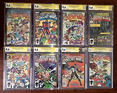 Secret Wars 1,2,3,4,5,6,7,&8!*CGC Lot NM+**#8 SIGNED BY STAN LEE**HOLY GRAIL!!**