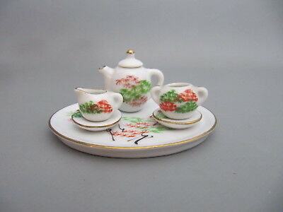 antikes PUPPENSTUBEN TEEGESCHIRR antiques dollhouses tea dishes