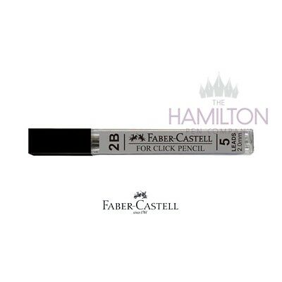 FABER-CASTELL CLICK PENCIL REPLACEMENT LEADS - Tube of Grade 2B 2mm Leads