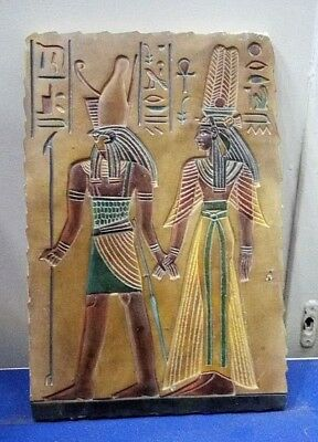 RARE ANCIENT EGYPTIAN ANTIQUE HORUS and OSIRIS Stela 1758-1458 BC