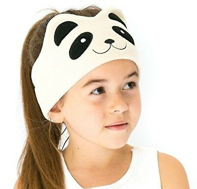 Panda Kids Headphones Volume Limited with Ultra-Thin Speakers Soft Fleece Gift
