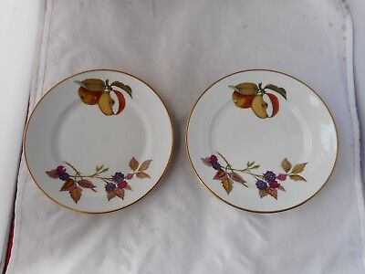 "TWO ROYAL WORCESTER""EVESHAM""SIDE PLATES(16.5cms diameter)"