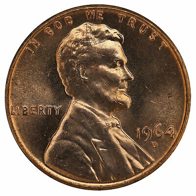 1964 D Lincoln Memorial Cent BU Penny US Coin