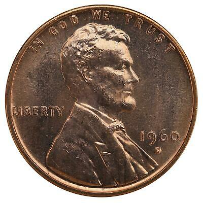 1960 D Lincoln Memorial Cent Small Date BU Penny US Coin