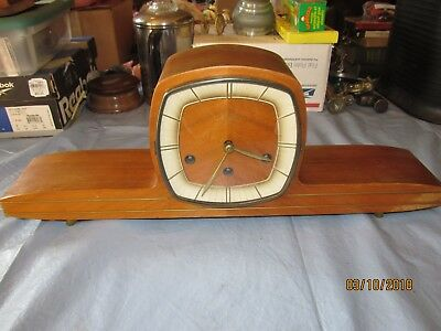 Vintage Mauthe Mantle Clock 22 x 7 1/2 x 4 3/4 inches