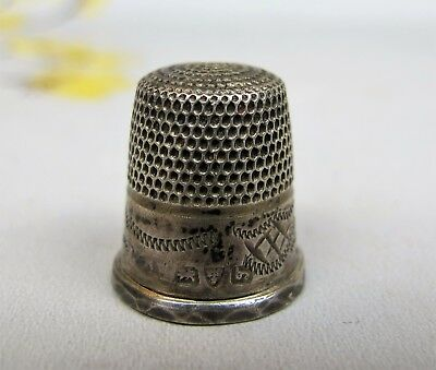 Early antique English Sterling Silver Thimble. Hallmarked. Small size - child's?