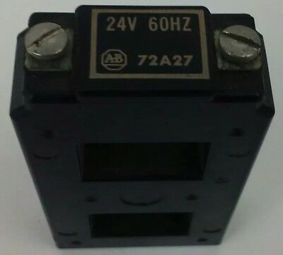 Allen Bradley 72A27 Coil 24V@ 60Hz, Good Condition, Minimal Signs Of Wear, Used