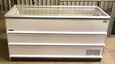 Novum Commercial Glass Top Flat Lid Chest Freezer With New Compressor