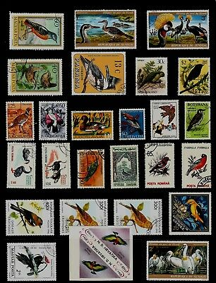 BIRDS Thematic STAMP Colllection  USED few MINT Ref:TS888