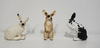 SCHLEICH lot of 3 Rabbits Animal Figures