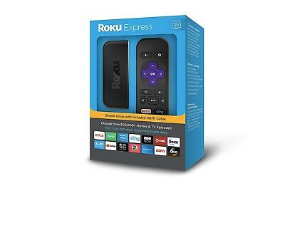 Roku Express 3900R Streaming Player -5x MORE POWERFUL Black