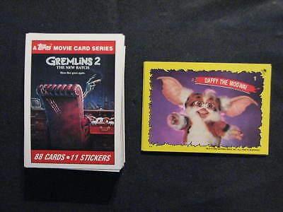 Gremlins 2, 1990 Topps -88 card set + 11 stickers