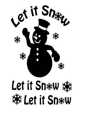 Let It Snow Wine Bottle Decal / Sticker (bottle not included)