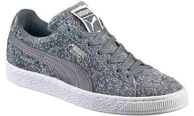 PUMA Suede Classic Casual Emboss Womens Sneakers SZ 8.5 Steel Gray NWOB 27ab130e0