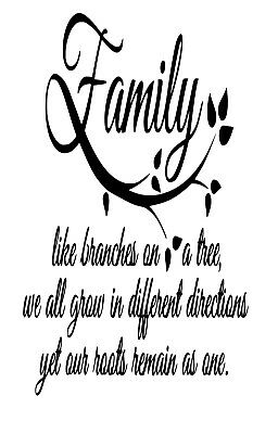 Family like Branches on a Tree Wine Bottle Decal / Sticker (bottle not included)