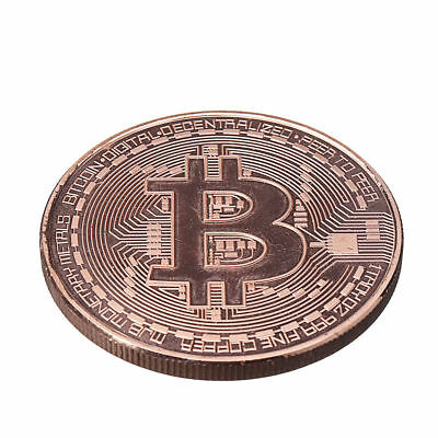 Rose Gold Bitcoin Round Plated Physical Commemorative