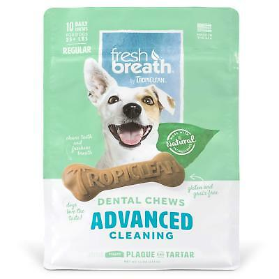 Tropiclean - Pet Fresh Breath - Dental Treats - Advanced Cleaning - Regular