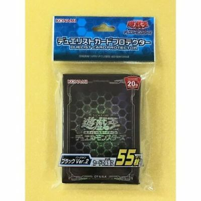 Yugioh Japanese - 20TH ANNIVERSARY BLACK (55pcs) - official Card Sleeve