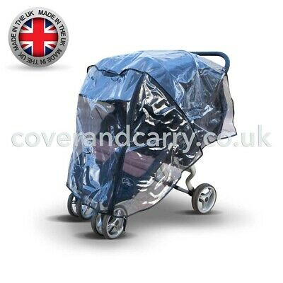 Raincover for use with The Silver Cross Wayfarer Made in The UK from Supersoft PVC with Zip Opening