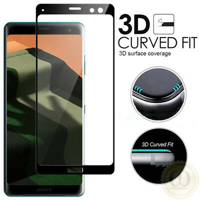 3D Curved Tempered Glass Screen Protector For Sony Xperia 1 10 XZ3 XZ2 XA2 Plus