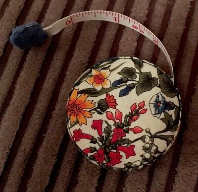 Liberty of London Retractable Tape Measure Floral Liberty Fabric Sewing Tape