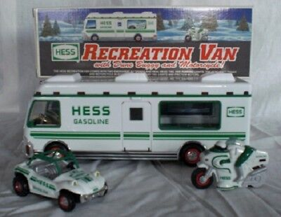 1998 Hess RV w/ Dune Buggy & Motorcycle *Mint in Box*
