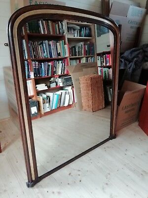 Victorian arched top overmantel mirror