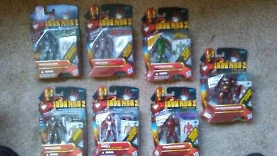 Marvel Universe 3.75 inch Iron Man 2 action figure lot of 7