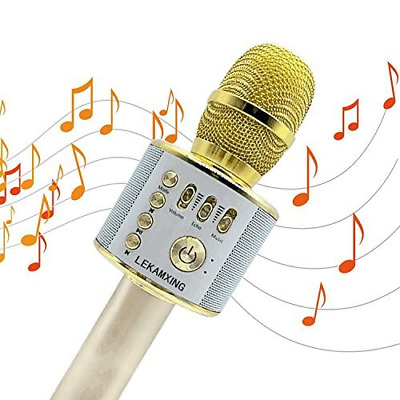 Wireless Bluetooth Karaoke Microphone LEKAMXING For Holiday gifts & Birthday Day