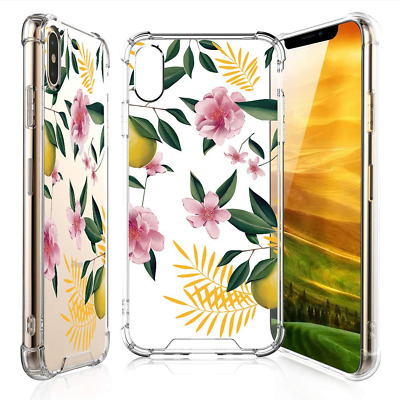 TJS for Girls and Women iPhone Xs Max Case with Tempered Glass Screen Protector