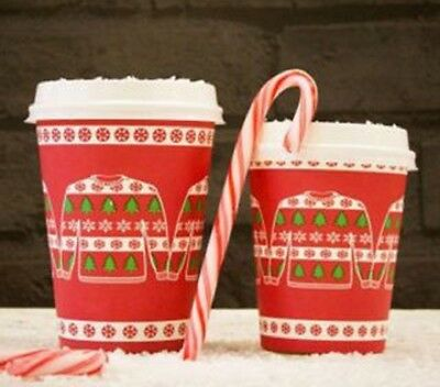 Christmas Coffee Disposable Paper Cup - Jumper Cup Design 8oz