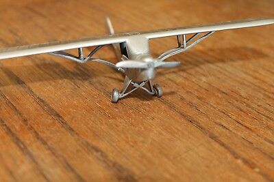 Vintage Estate Danbury Mint Piper Cub Pewter Airplane 1:63 Scale So Detailed !!