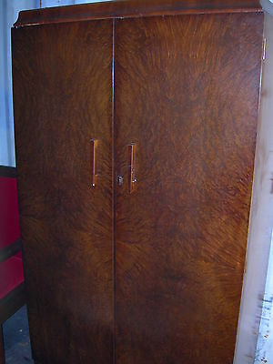 Antique Vintage 19 c English Armoire Wardrobe Rare 1800's Original