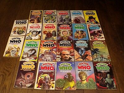 20+ Dr Who Target Books  Jon Pertwee/tom Baker Stories Different Authors