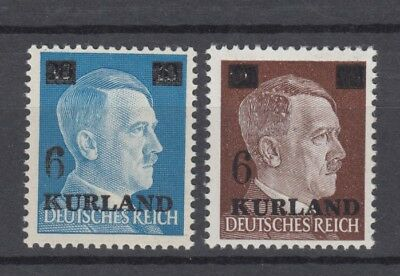 1945 Third Reich German Occup. Kurland Michel 2/3 MNH Signed