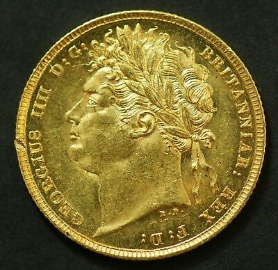 1822 George IIII Gold Sovereign in extremely fine condition