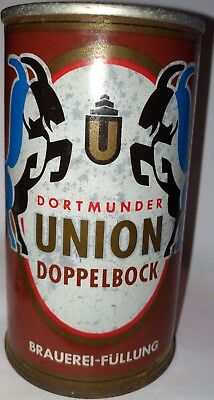 Dortmunder Union Doppelbock tab top beer can from Germany