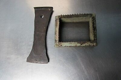 Antique beekeeping tools forge made hive tool and queen introduction cage